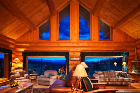 dove lodge sitting room at echo valley ranch canada