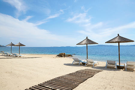 private beach at Eagles Palace hotel