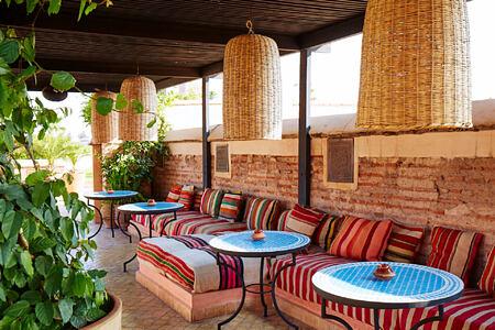 restaurant at riad el fenn hotel morocco