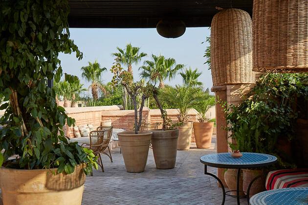 outside at riad el fenn hotel morocco
