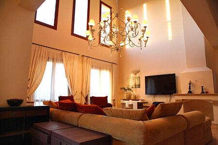 elite villa open plan living space at aphrodite hills hotel cyrpus