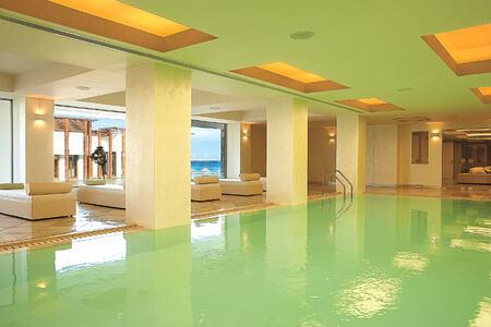 elixir spa indoor pool at Amirandes Crete