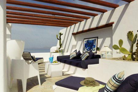 executive suite pergola at Mykonos Grand