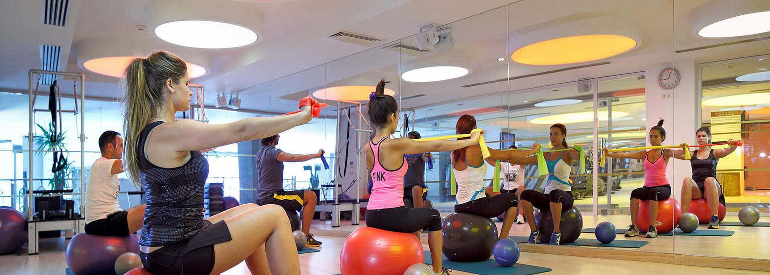 fitness class at sianji wellbeing resort turkey