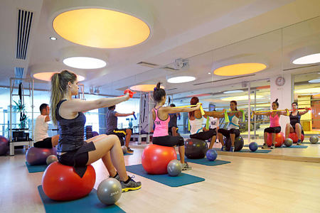 fitness class at sianji wellbeing resort turkey