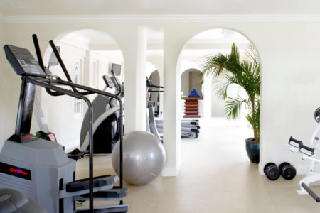 fitness room at rendezvous resort st lucia caribbean