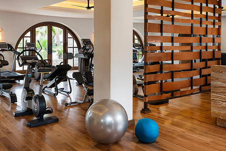 fitness room at one and only palmilla mexico