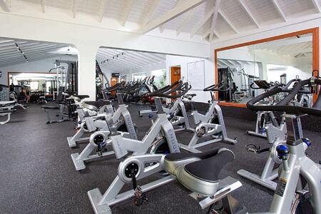 fitness room at st james morgan bay resort caribbean