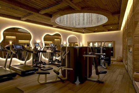 fitness studio at alpina gstaad hotel switzerland