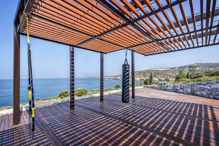 fitness training terrace at Six Senses Kaplankaya resort turkey