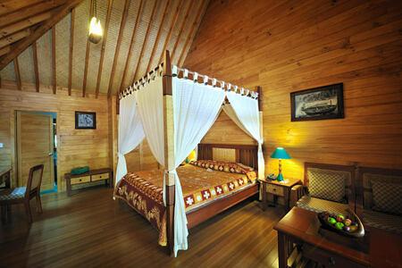 garden villa interior at Bandos Island Resort Maldives
