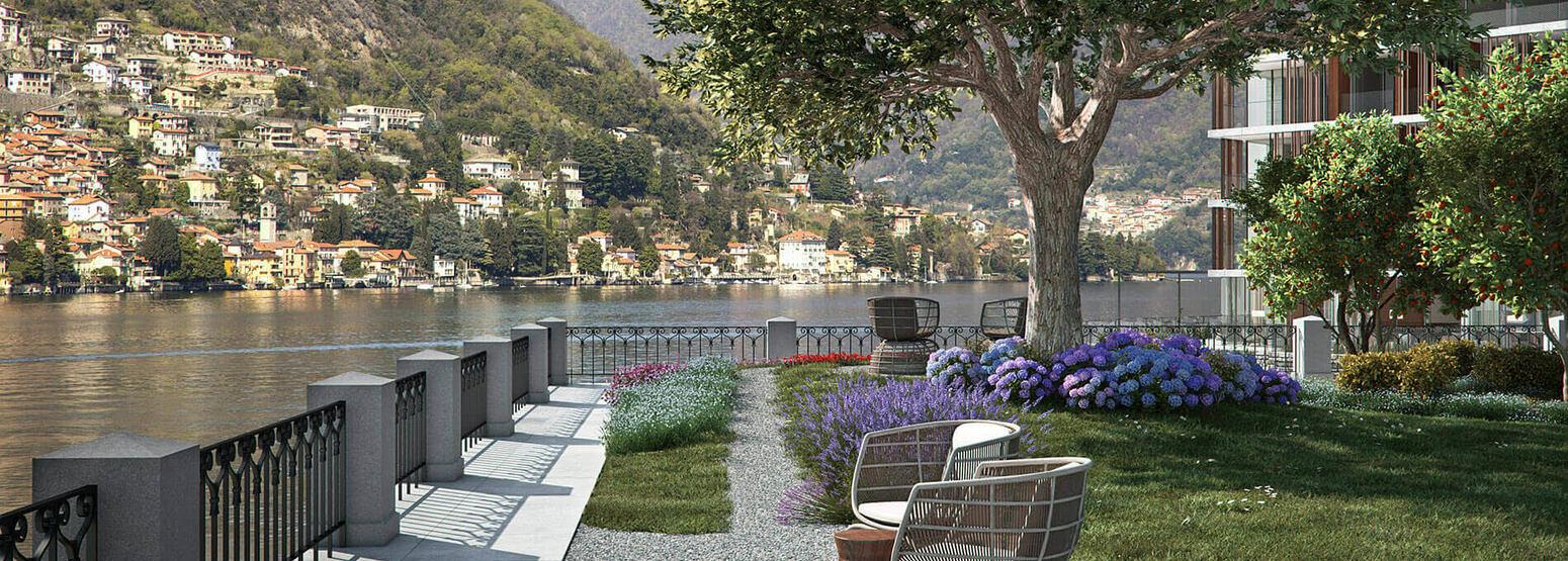 gardens at il sereno hotel italy