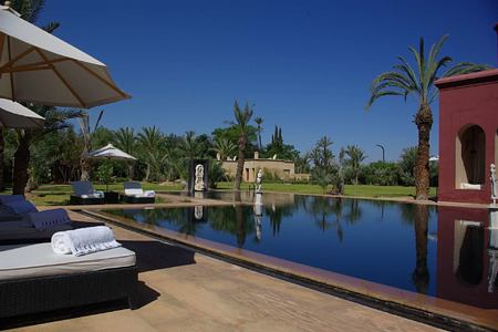gardens and pool at savinio lotus villa morocco