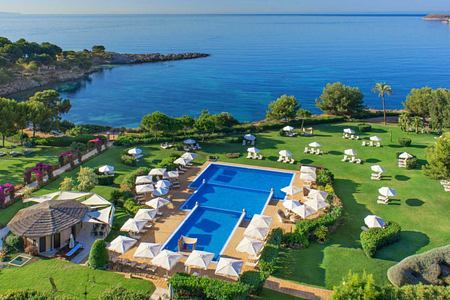 gardens and pools at St Regis Mardavall Resort Mallorca