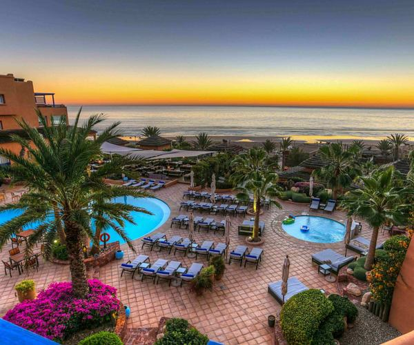 aerial view of paradis plage morocco