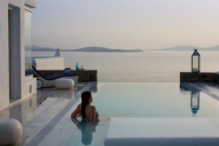 grand suite private pool at Mykonos Grand