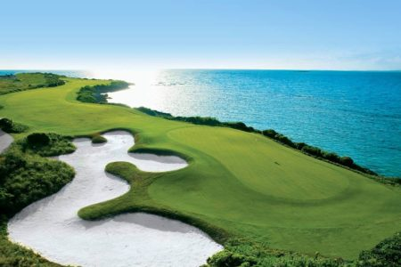 greg norman designed golf course at sandals emerald bay resort bahamas