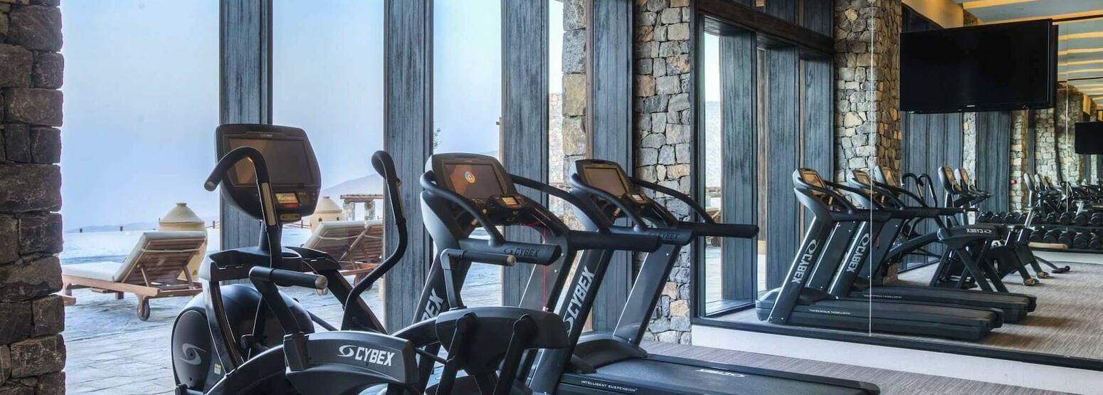 gym at alila jabel akhdar resort oman