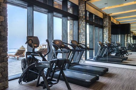 gym at alila jabel akhdar resort oman