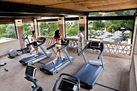 gym at Castel Monastero hotel