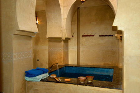 hammam at Kasbah du Toubkal hotel morocoo