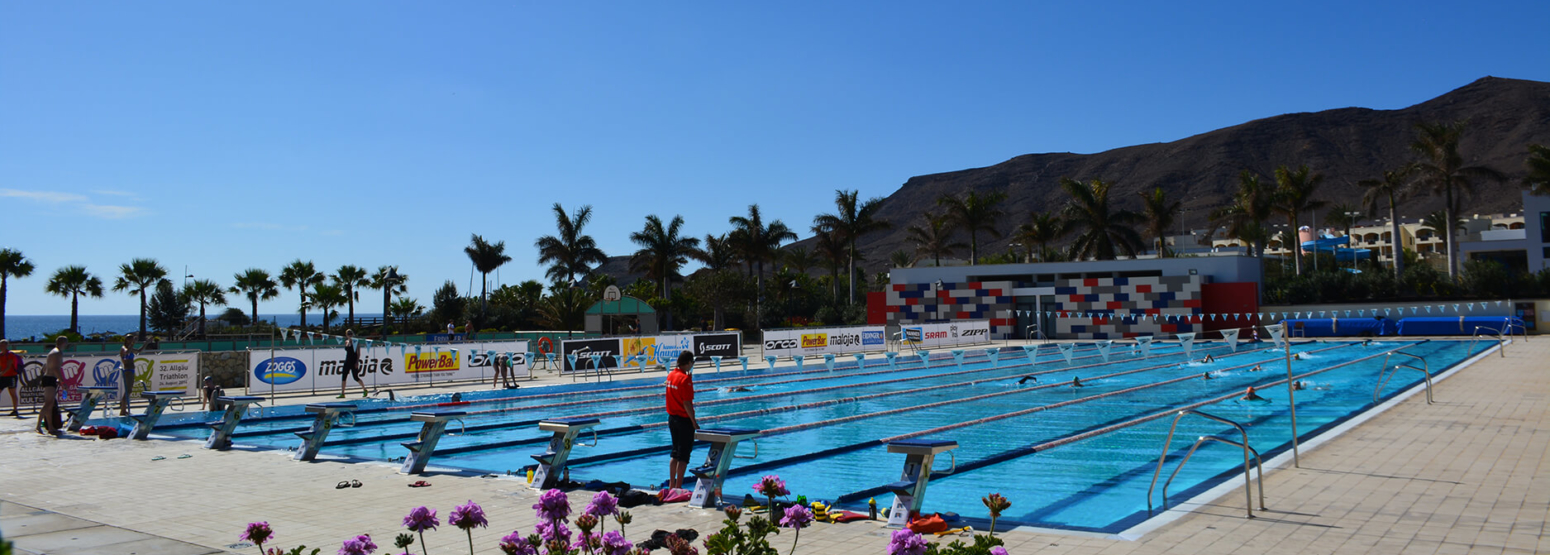 heated olympic pool at playitas resort canary islands