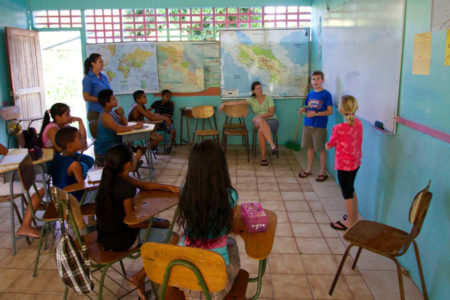 helping local children learn english at tortuga lodge costa rica