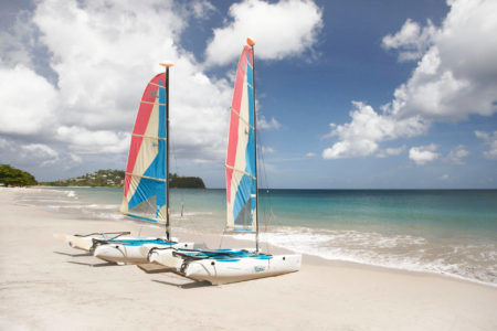 hobiecats at rendezvous resort st lucia caribbean