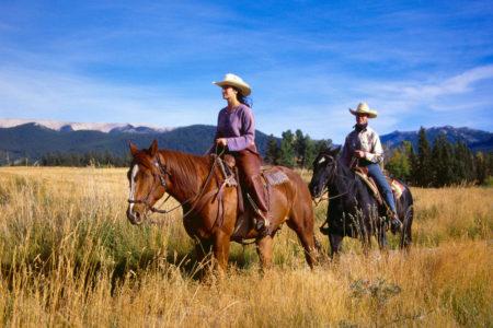 horse riding at echo valley ranch canada