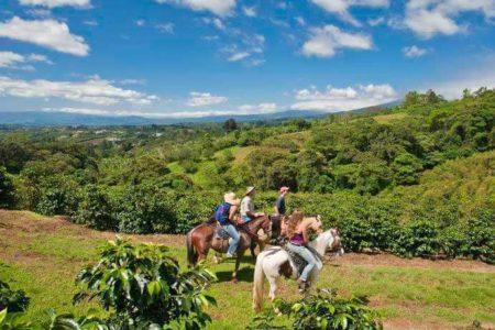 horse riding at finca rosa blanca resort costa rica