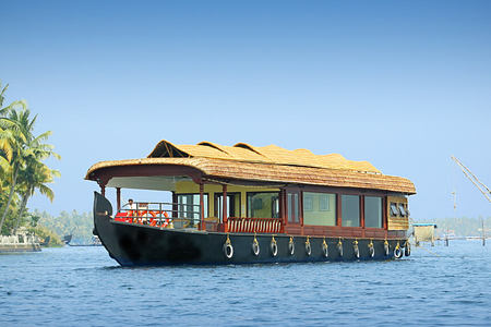 houseboat at Carnoustie Ayurveda & Wellness Resort