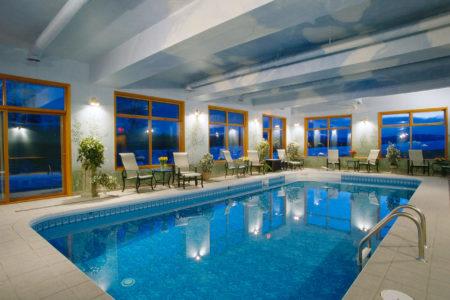 indoor heated pool at echo valley ranch canada