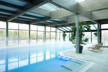 indoor spa pool at parkhotel igls hotel austria