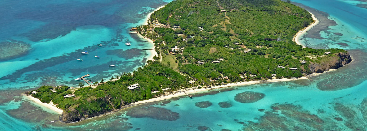 aerial view of petit st vincent hotel
