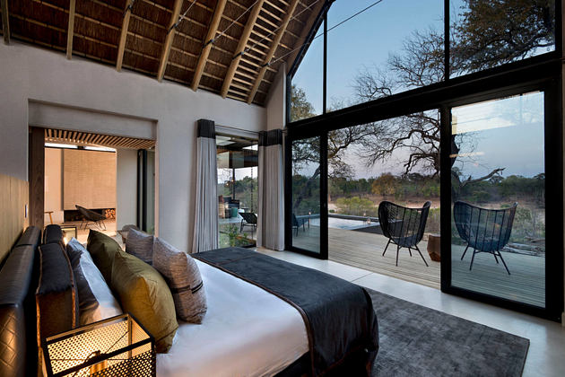 ivory lodge jacana suite bedroom at lions sands south africa