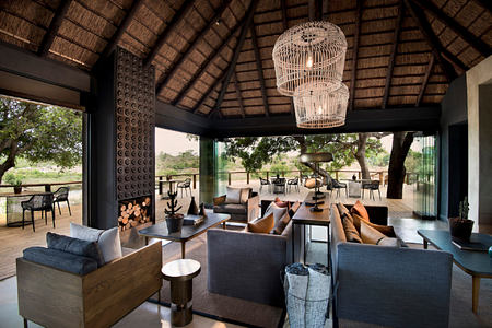 ivory lodge lounge area at lions sands south africa