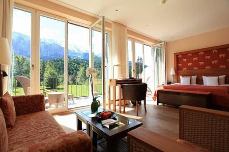 junior suite at Schloss Elmau