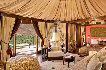 berber tents at kasbah tamadot hotel morocco