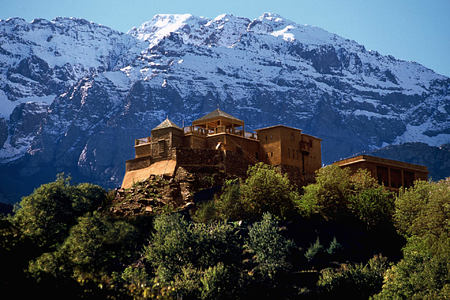 atlas mountains at Kasbah du Toubkal hotel morocoo