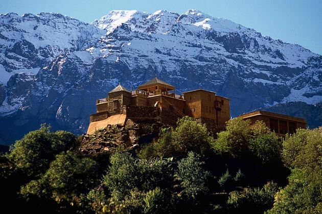 atlas mountains at Kasbah du Toubkal hotel morocoo
