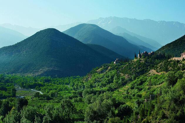 mountains at kasbah tamadot hotel morocco