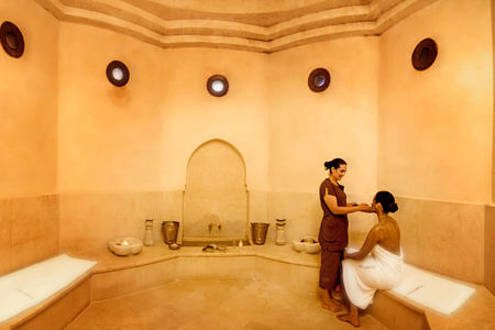 wellness hammam spa at kasbah tamadot hotel morocco