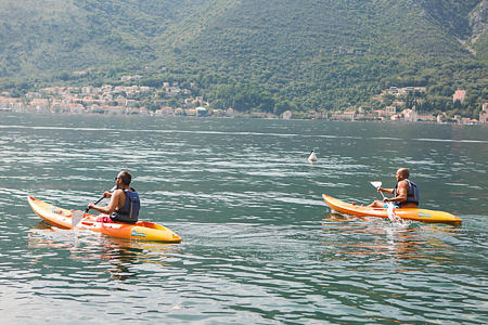 kayaking in the bay at palazzo radomiri hotel montenegro