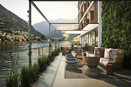 lakeside terrace at il sereno hotel italy