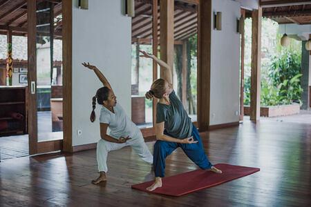yoga at svarga loka hotel bali