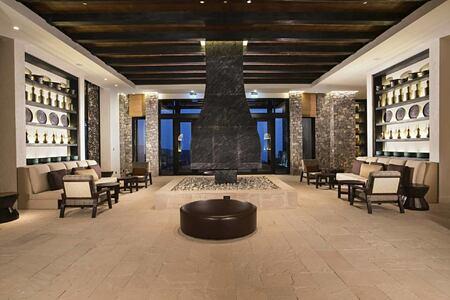lobby at alila jabel akhdar resort oman