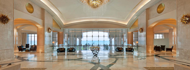 lobby at the st regis island resort abu dhabi