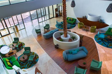 lobby view at The Retreat Palm