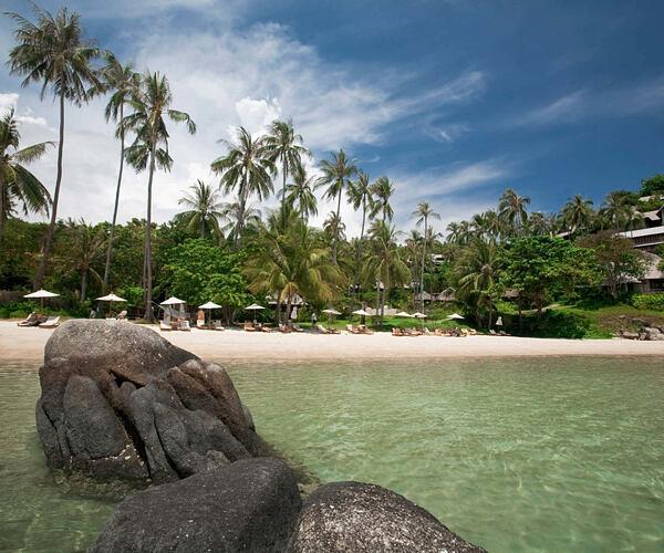 beach at kamalaya resort koh samui thailand