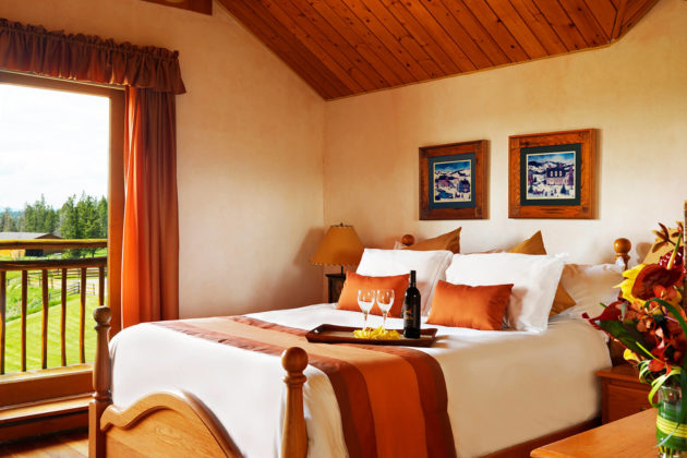 lodge room at echo valley ranch canada